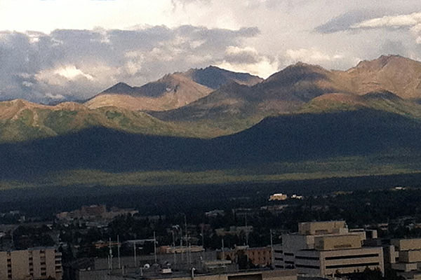 Chugach Mountains in Anchorage, Alaska