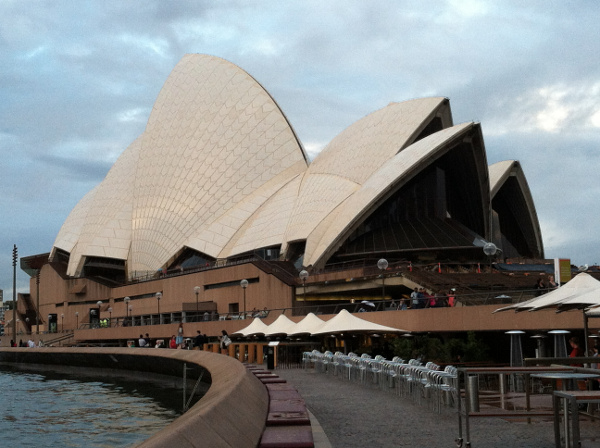 Exterior of Sydney Opera House in New South Wales, Australia