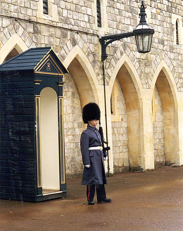 Soldier at Windsor Castle, England