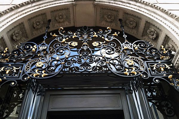 Entrance to the Wolseley Hotel in London, England